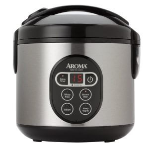 Aroma Housewares ARC-914SBD Cooked 8-Cup Digital Rice Cooker Steamer with Stainless Steel Exterior